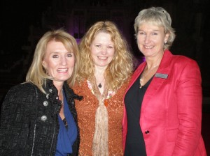 Sharron Sweetnam and Debra with Elaine Griffiths at Gorton Monastery: The Temple of Light within the City of Light