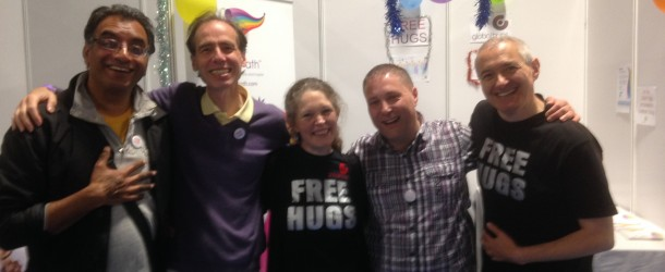 Global Hugs Ambassadors Share Love at Om Yoga Show 2015