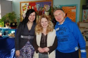 Ahqulieah Kohav Luthienne (speaker) with Debra and Brian Bodner
